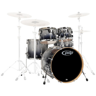 PDP Drums Concept Maple 22'' CM5 Shell Pack, Silver to Black Fade
