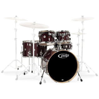 PDP Drums Concept Maple 22'' CM6 Shell Pack, Transparent Cherry