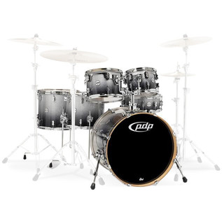 PDP Drums Concept Maple 22'' CM6 Shell Pack, Silver to Black Fade