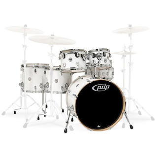 PDP Drums Concept Maple 22'' CM6 Shell Pack, Pearlescent White