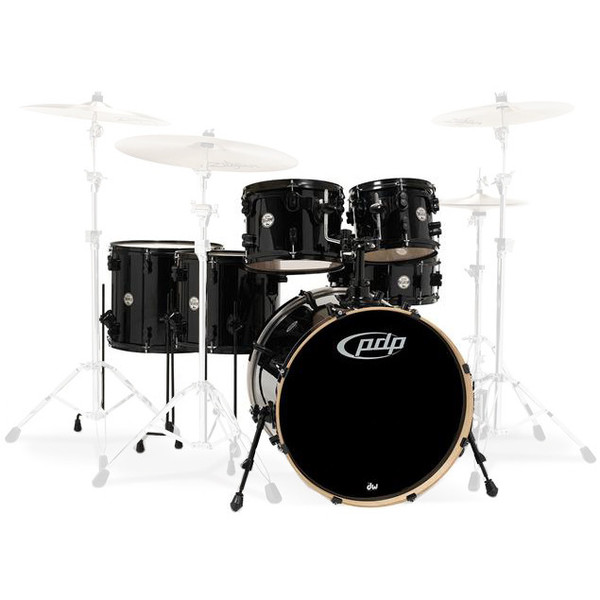 PDP Drums Concept Maple 22'' CM6 Shell Pack, Pearlescent Black