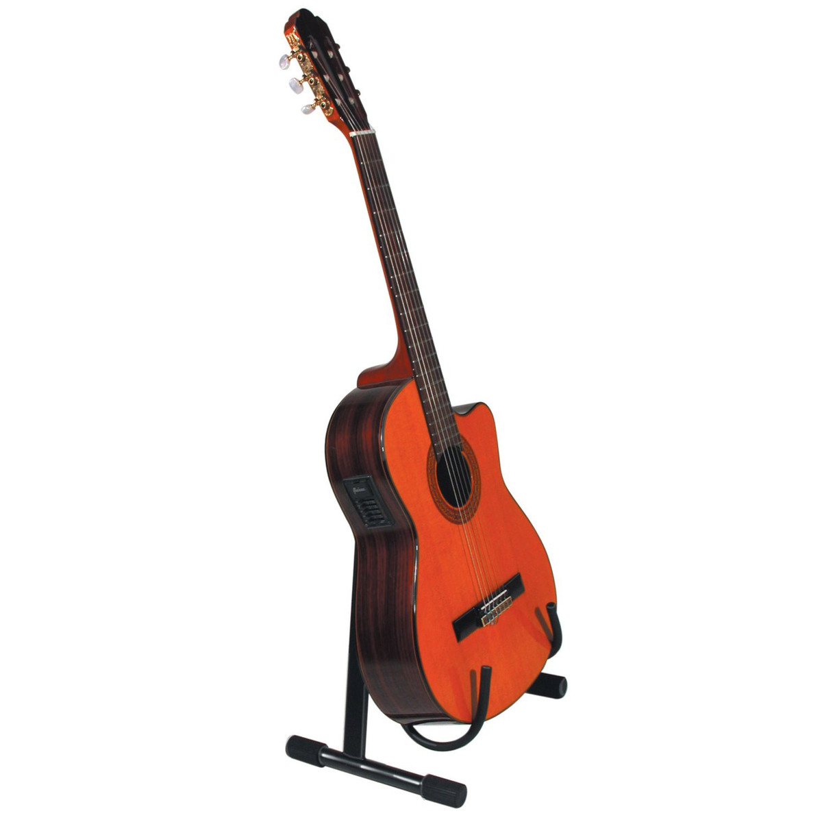 quiklok low a frame acoustic guitar stand black at gear4music. Black Bedroom Furniture Sets. Home Design Ideas
