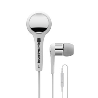 Beyerdynamic MMX 102 iE In Ear Headphones, White/Silver