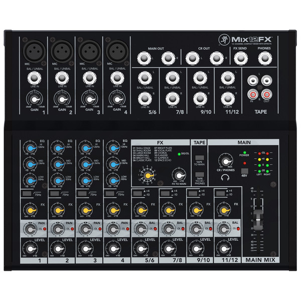 Mackie Mix12FX Compact Mixer - Top