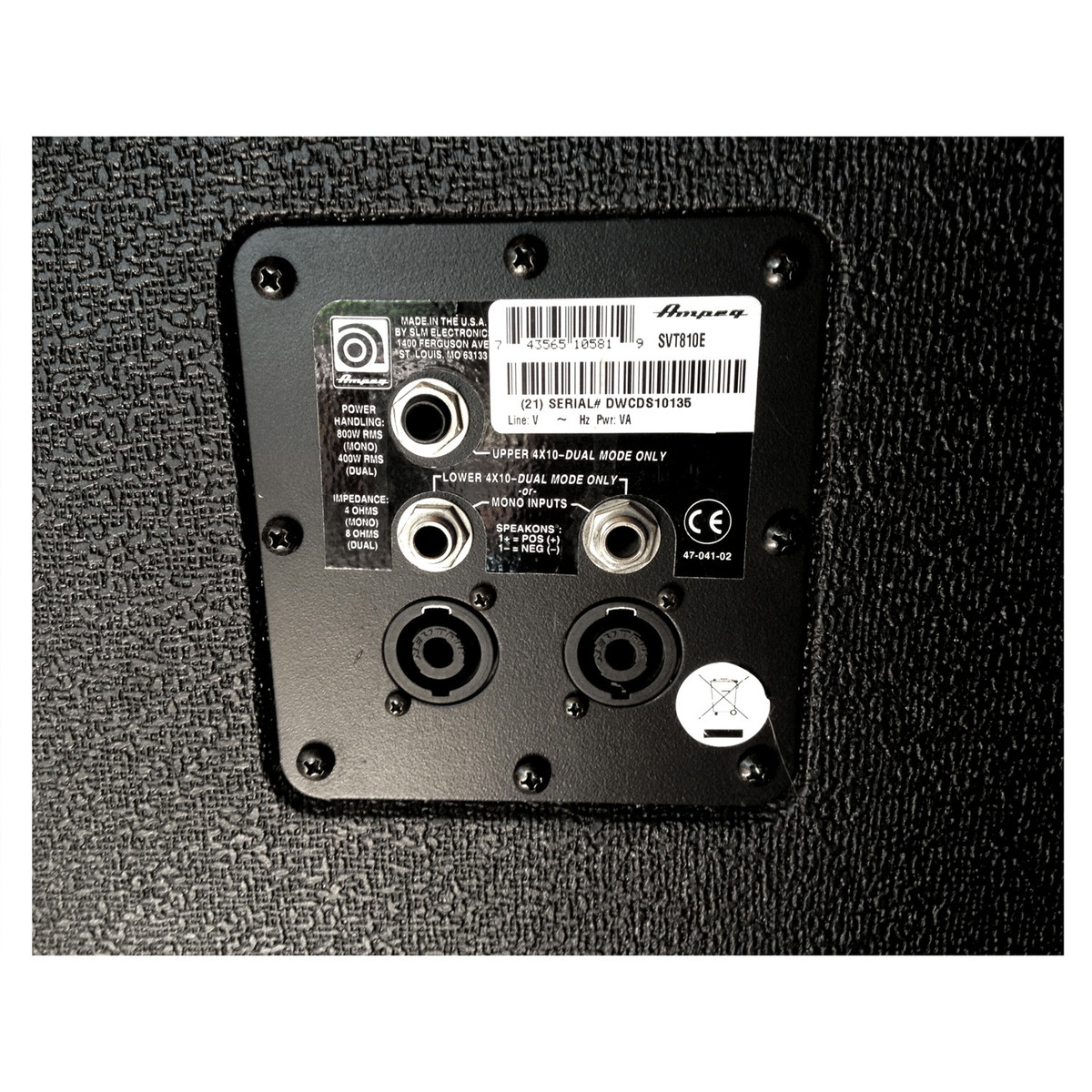 Ampeg SVT-810E 8 x 10\'\' Bass Speaker Cabinet, CL en Gear4Music.com