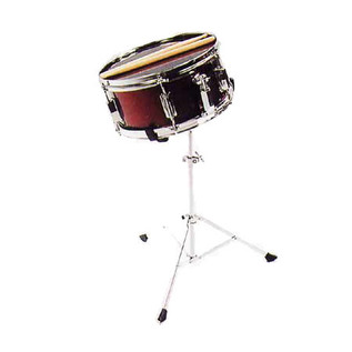 Percussion Plus Junior Snare Drum, Wine Red, With Stand