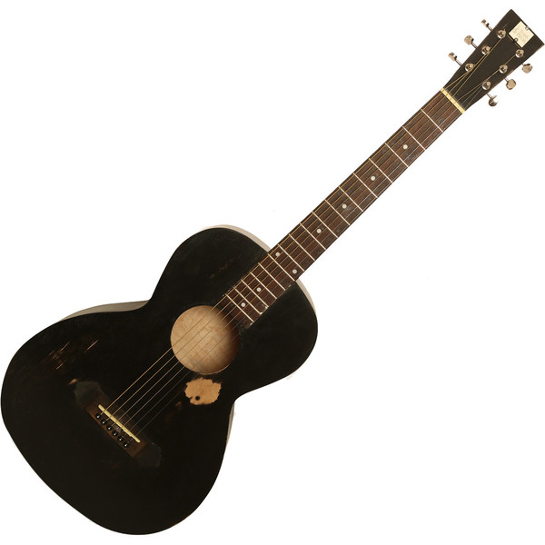 Nineboys Tonk Bros Parlour Guitar, Black Wear Finish