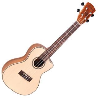 Laka VUC80EA Electro Acoustic Concert Ukulele, Solid Spruce