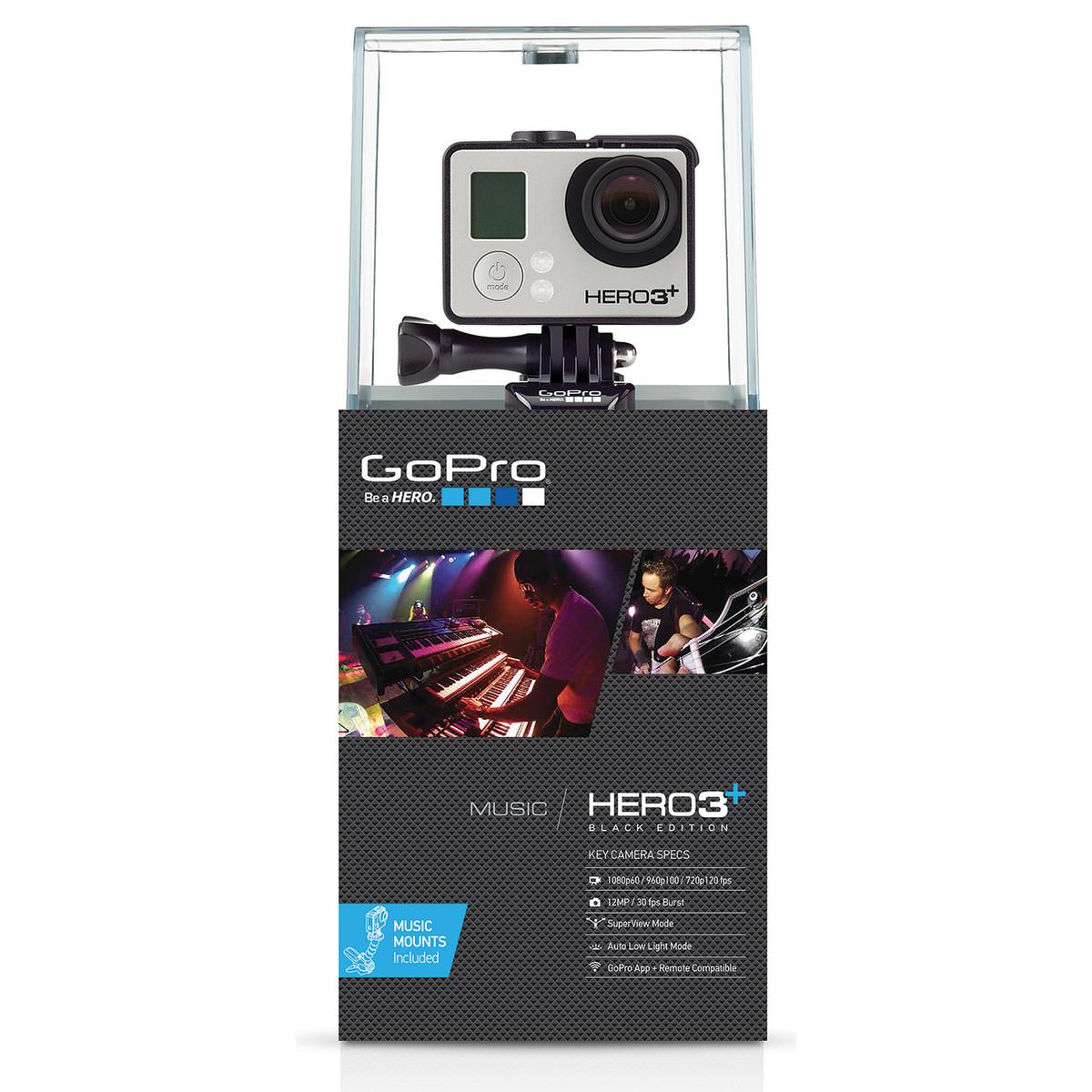 GoPro HERO3+ Black Music Edition Cámara de Vídeo en Gear4Music.com