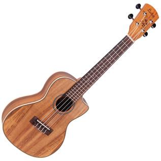 Laka VUC90EA Concert Electro Acoustic Ukulele, Solid Koa