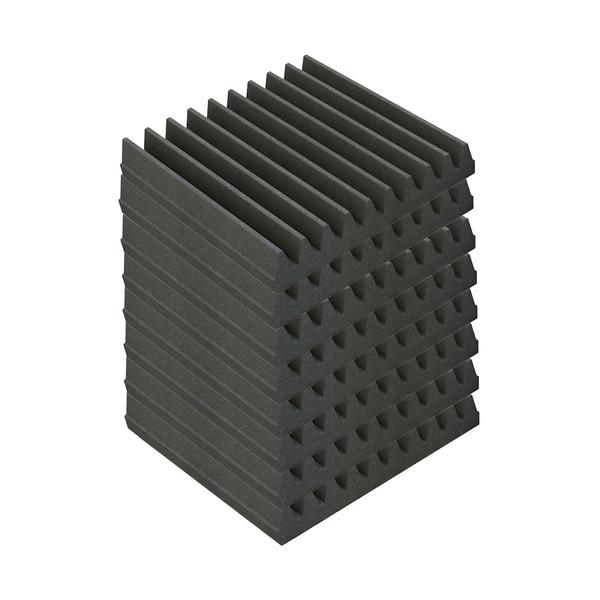 EQ Acoustics Classic Wedge 30, 30cm Foam Tiles Grey (8 Pack)