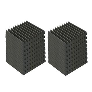 EQ Acoustics Classic Wedge 30, 30cm Foam Tiles Grey (16 Pack)