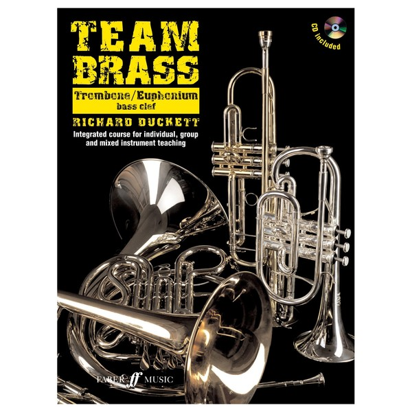 Team Brass Trombone/Euphonium Tuition Book and CD