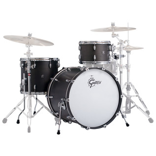 Gretsch Drums Renown Maple 22'' 3 Pc Euro Shell Pack, Satin Black