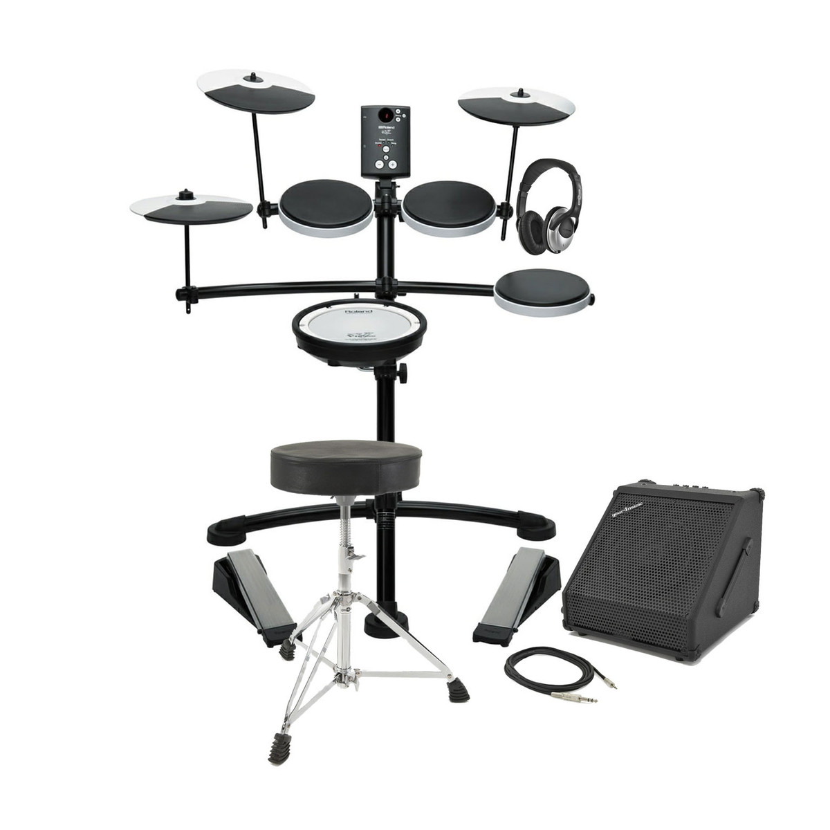 Roland Td 1kv V Drums Electronic Drum Kit With Amp Stool