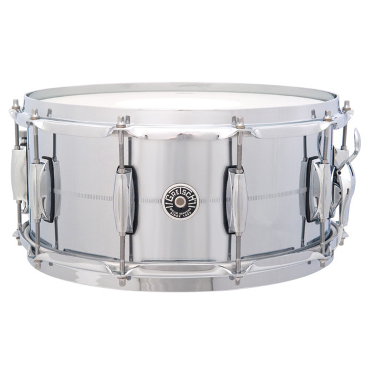 Gretsch Drums Brooklyn 14\'\' x 6.5\'\' Snare Drum, Chrome Over Brass at ...