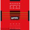 Warwick Corde Bassi acustici bronzo rossi, 4 corde su media scala
