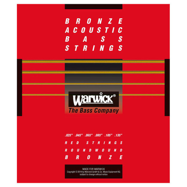 Warwick Red Bronze Acoustic Bass Strings, 6 Long Scale Strings