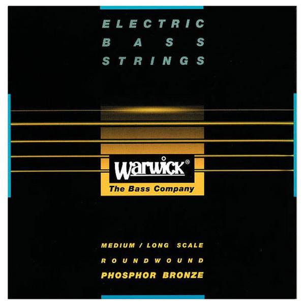 Warwick Black Label Acoustic Bass Strings, 4 Medium Scale Strings