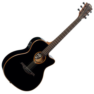 LAG Tramontane T100ACE Electro-Acoustic Guitar, Black