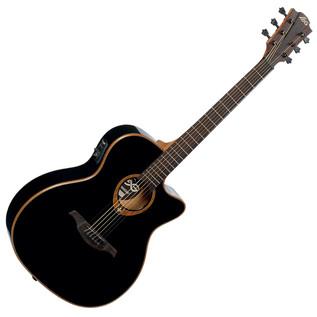 LAG Tramontane T100ACE Electro-Acoustic Guitar, Black