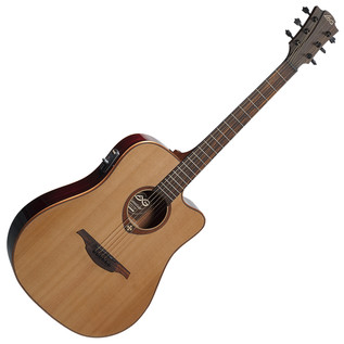 LAG T100DCE Electro-Acoustic Guitar, Natural