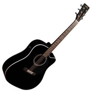 Sigma DMC-1STE Electro Acoustic Guitar, Black
