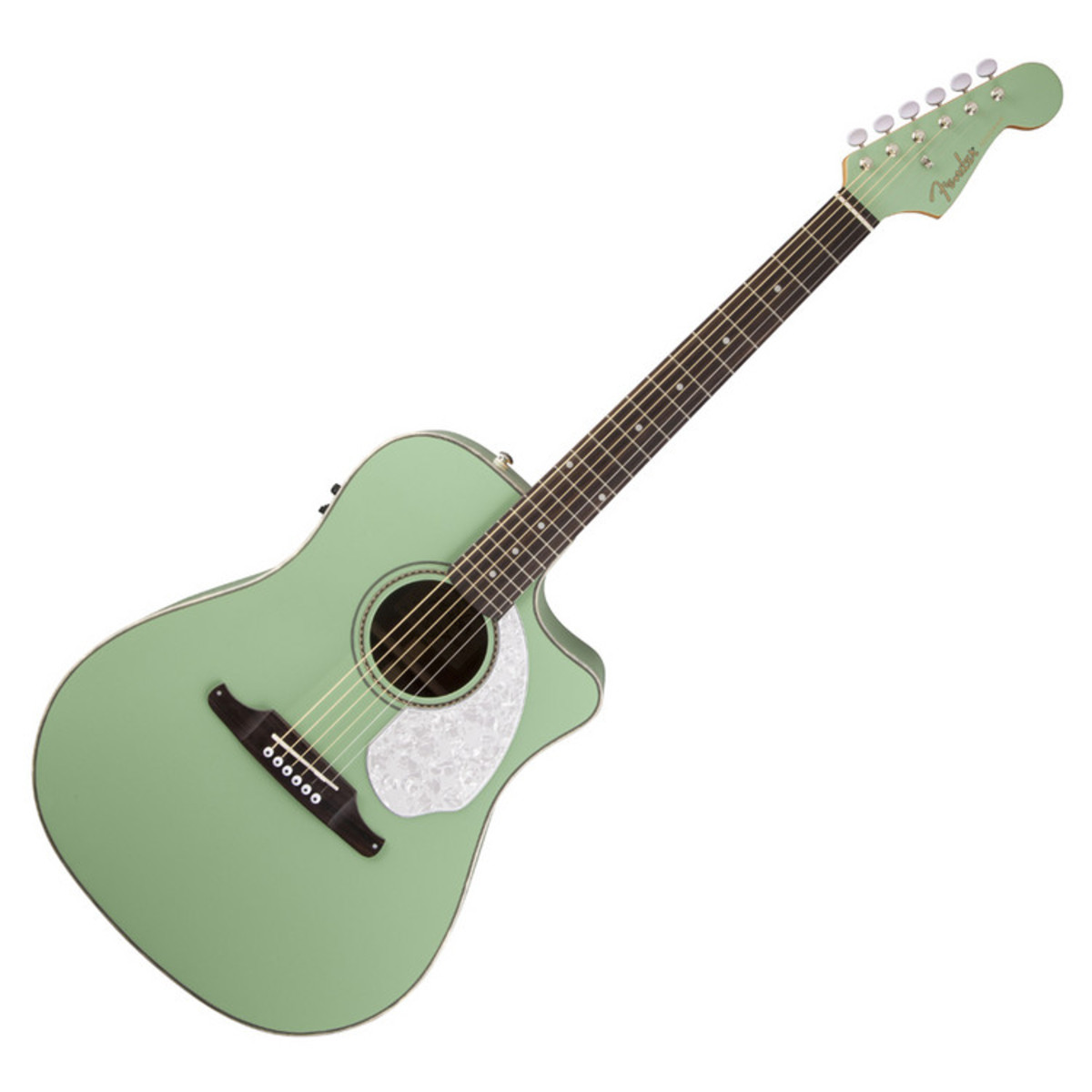 Fender Sonoran Sce Electro Acoustic Rw Surf Green Nearly New At Gear4music
