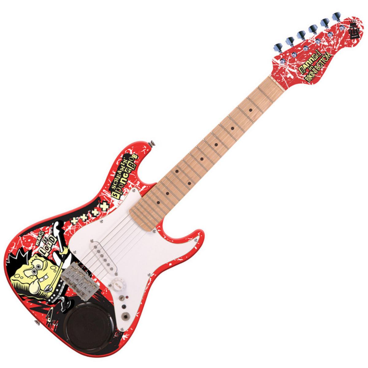 bob l 39 eponge guitare lectrique 3 4 int gr e haut parleur. Black Bedroom Furniture Sets. Home Design Ideas