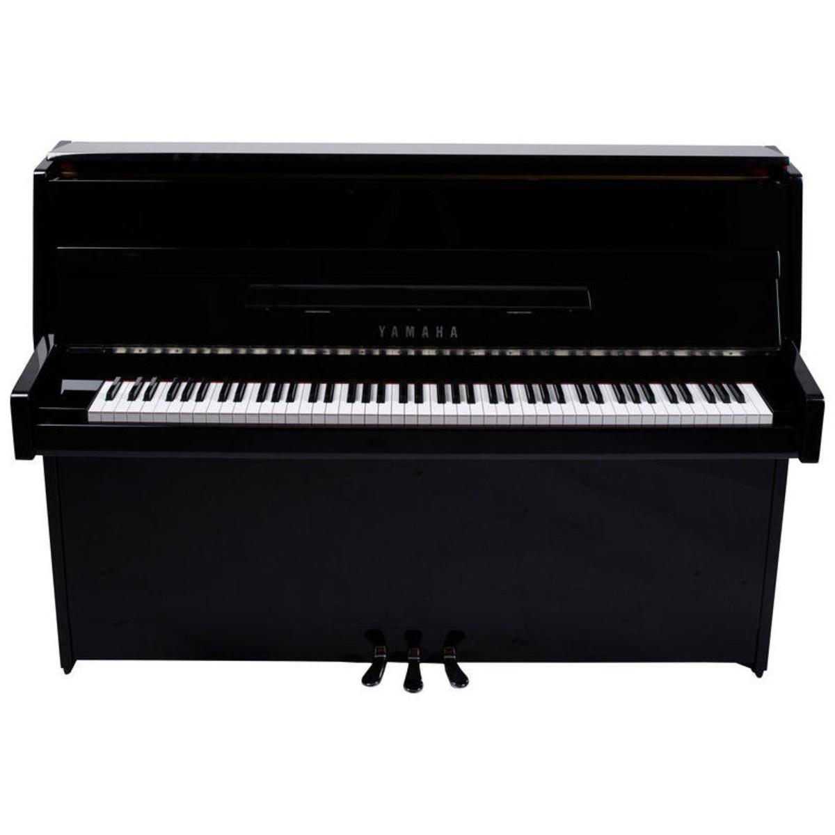 yamaha b1 upright acoustic piano polished ebony chrome fittings at. Black Bedroom Furniture Sets. Home Design Ideas