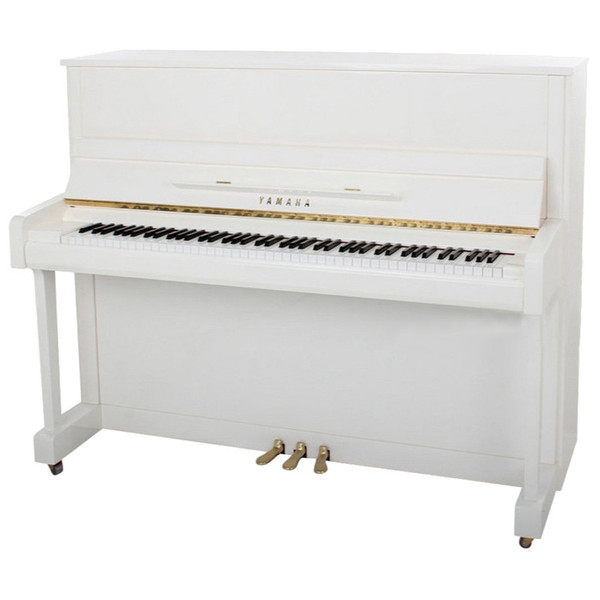 Yamaha B2 Upright Acoustic Piano, White Polyester