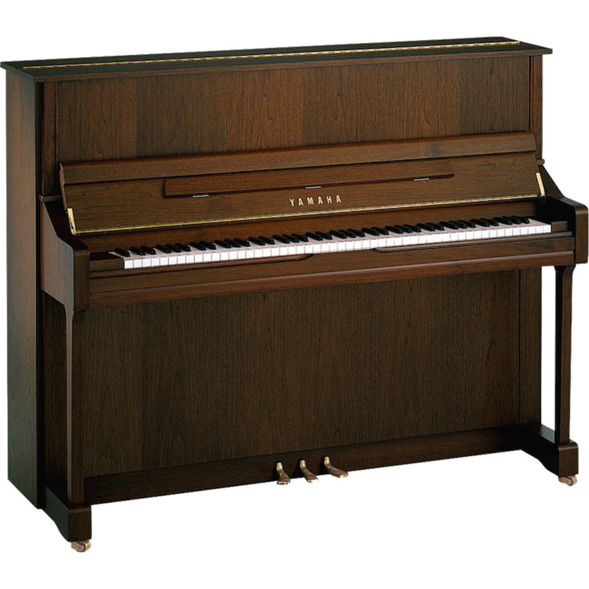 Yamaha b3 upright acoustic piano dark walnut satin at for Yamaha piano upright