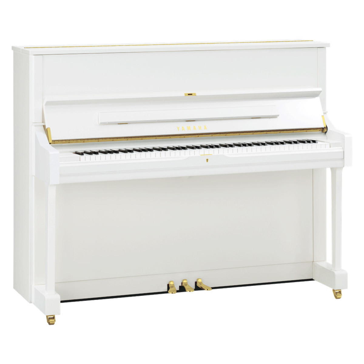 Yamaha u3 upright piano white polyester at for White yamaha piano