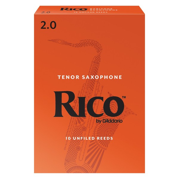 Rico by D'Addario Baritone Saxophone Reeds 2.0 Strength, Pack of 10