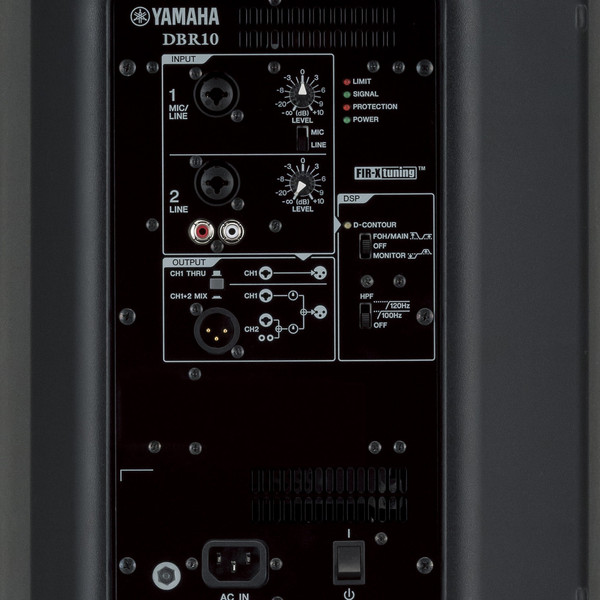Yamaha DBR10 Active PA Speaker Pair with FREE Speaker Stands panel