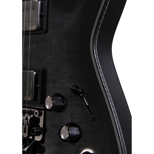 Schecter Hellraiser Hybrid C-1 FR Electric Guitar, Tran Black Burst