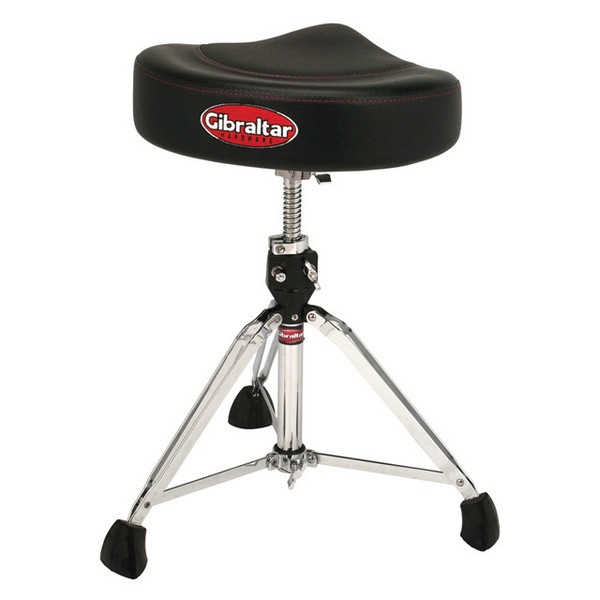 Gibraltar 9000 Series Saddle Drum Throne, 2-Tone Black