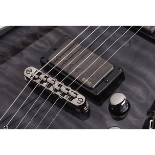 Schecter Hellraiser Hybrid C-1 Electric Guitar, Trans Black Burst
