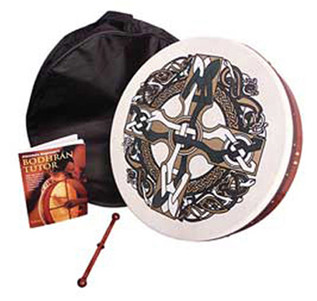 Percussion Plus PP1120 Celtic Cross Design 18'' Brodhran