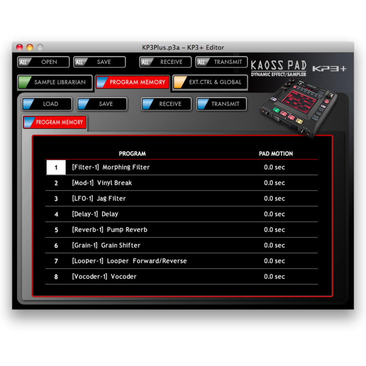 korg kaoss pad kp3 dynamic effects sampler nearly new at gear4music. Black Bedroom Furniture Sets. Home Design Ideas