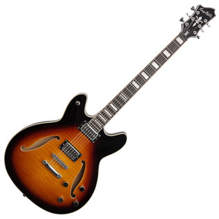 Hagstrom Viking Deluxe Baritone Semi-Hollow, Tobacco Sunburst