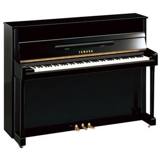 Yamaha B2 Upright Acoustic Piano, Black Polyester