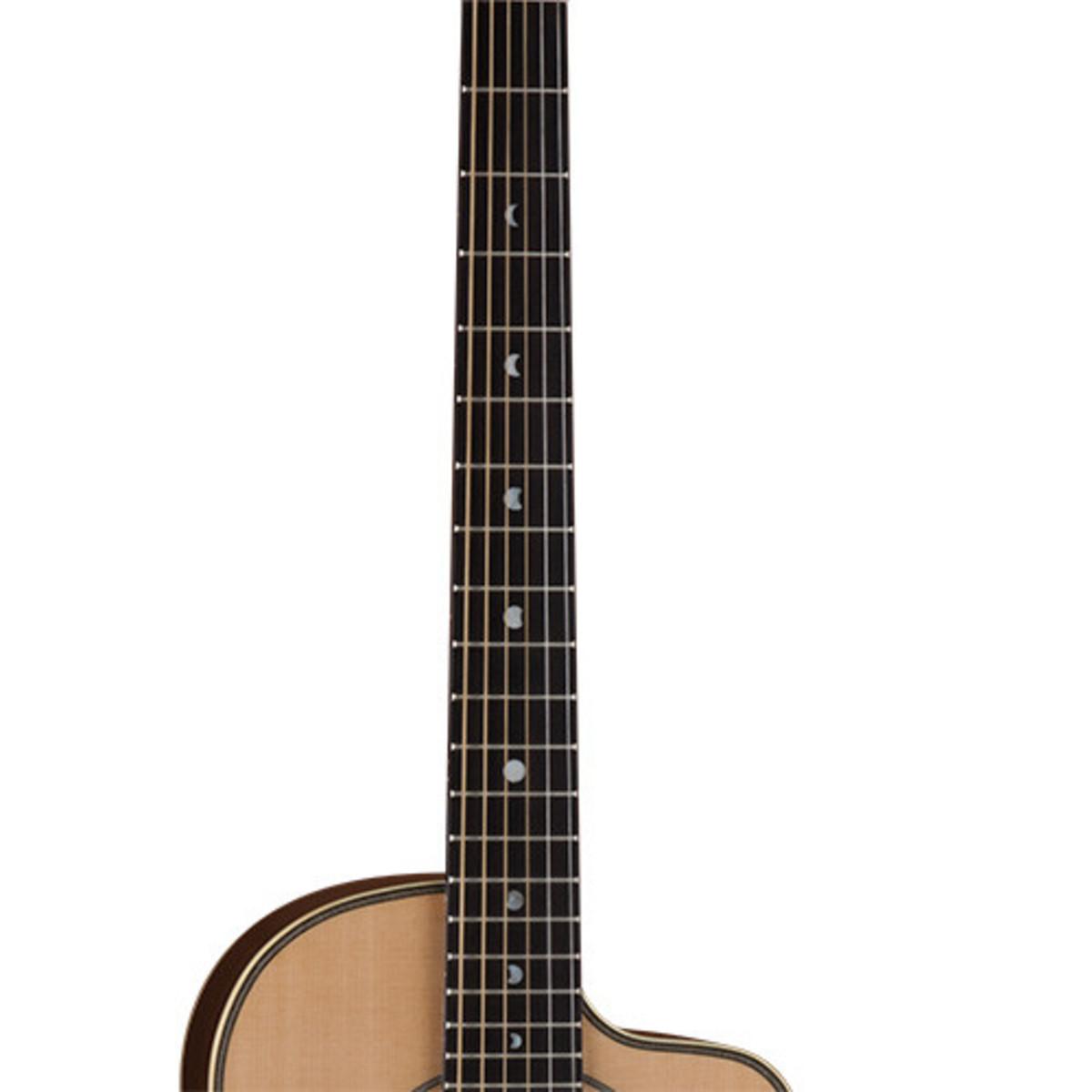 DISC Luna Americana Parlor Cutaway Electro Acoustic Guitar