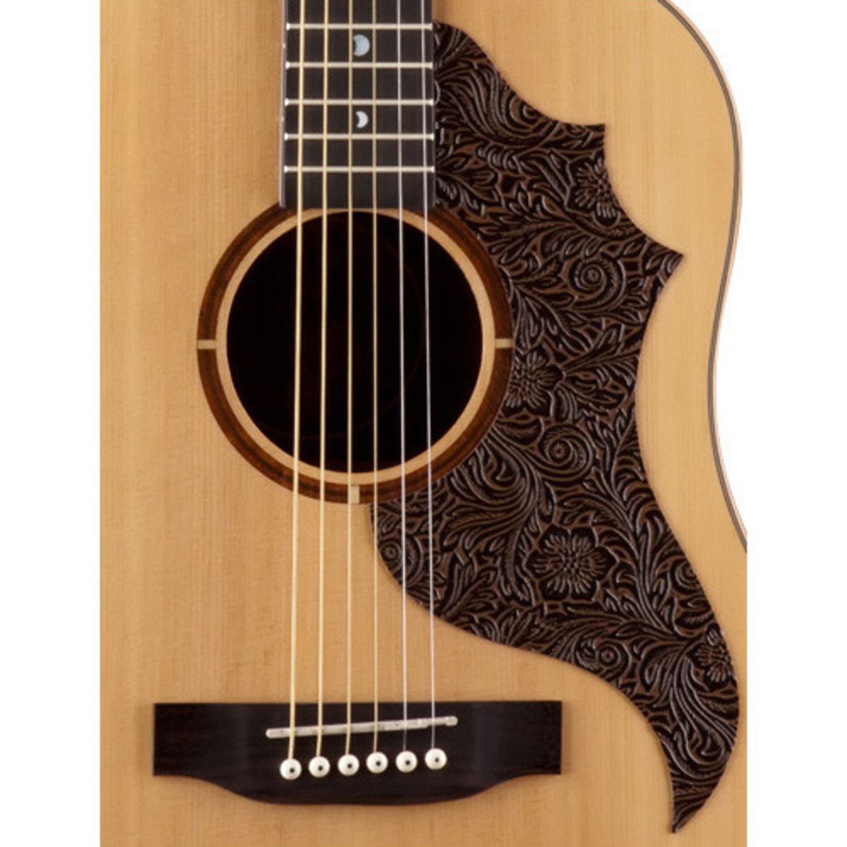 disc luna americana electro acoustic guitar leather pick guard at gear4music. Black Bedroom Furniture Sets. Home Design Ideas