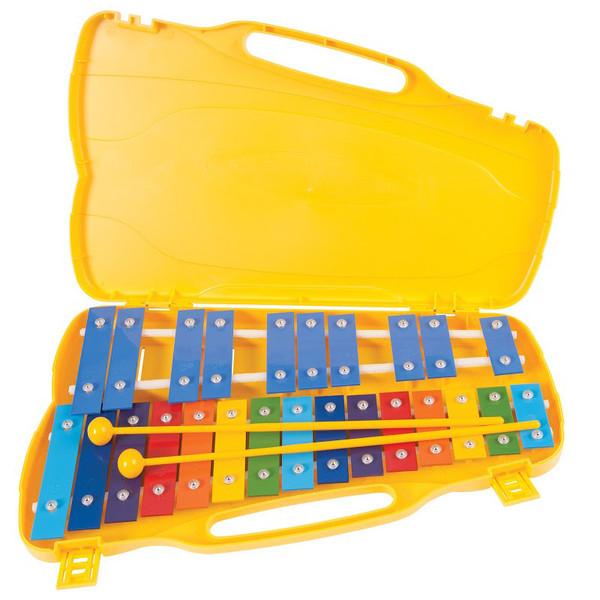 Performance Percussion G5-G7 25 Note Glockenspiel, Coloured Keys