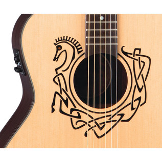 Luna Celtic Horse Grand Concert Electro Acoustic Guitar, Natural