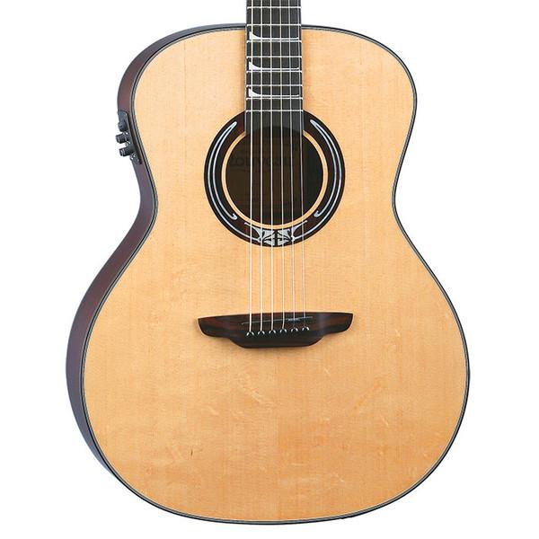 Luna Art Nouveau inspired Electro Acoustic Guitar, Natural