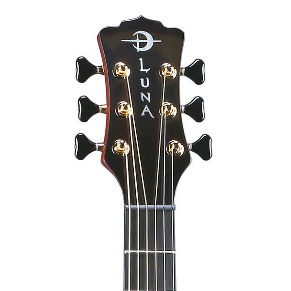 Luna Art Deco Inspired Electro Acoustic Guitar, Natural