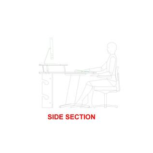 AKA Design Pro Edit Studio Desk, Blue and Maple 3