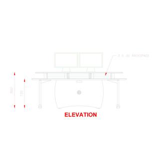 AKA Design Pro Edit Studio Desk, Blue and Maple 4